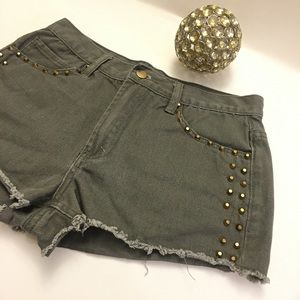 Forever 21 studded cut off shorts